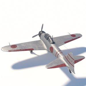 3D mitsubishi a6m zero -