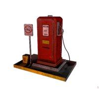 Old  petrol filling station