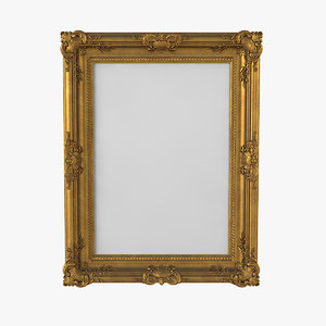 golden picture frame 3D model