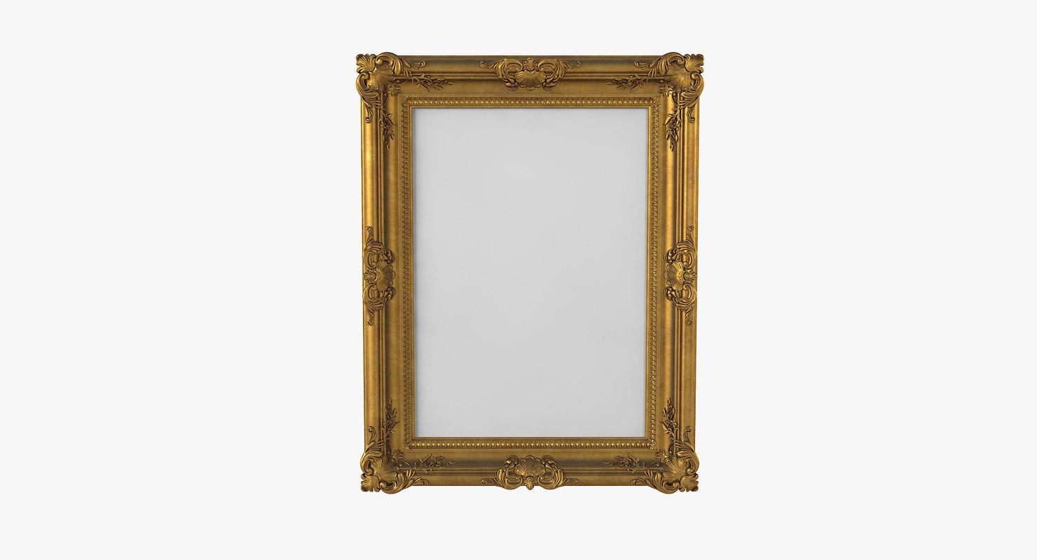 golden picture frame 3D model