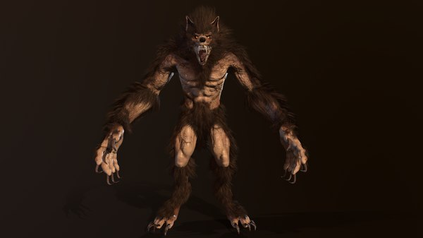 3D character werewolf model