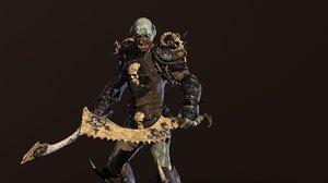 character monster berserker 3D