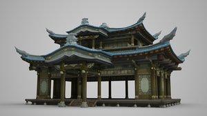 3D water pavilion palace