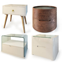 Modern nightstand, bedside table set 2. IMODERN