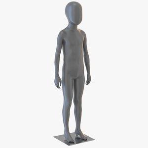 child mannequin 3D model
