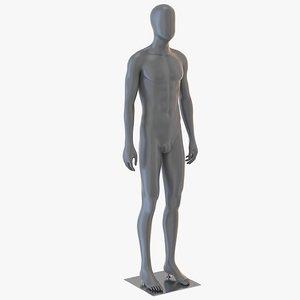 3D model male mannequin neutral pose