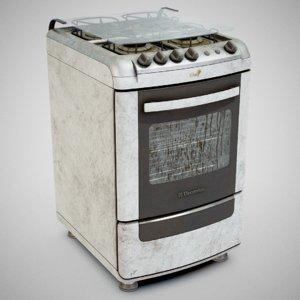 electrolux 52sm gas stove 3D model