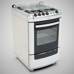 3D electrolux 52sm gas stove