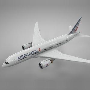 boeing 787 dreamliner air france 3D model