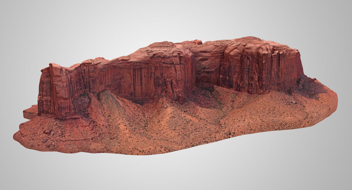3D model sandstone butte 15