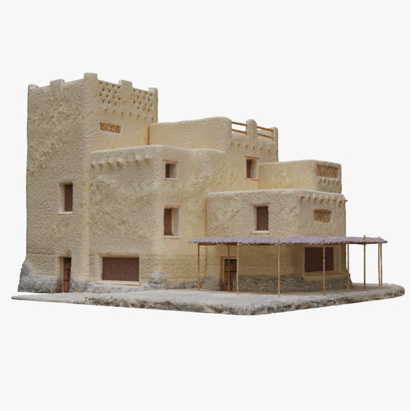 old arabic islamic house 3D