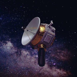 deep space probe 3D model