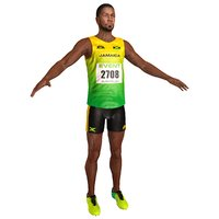 3D sprinter athlete hdr