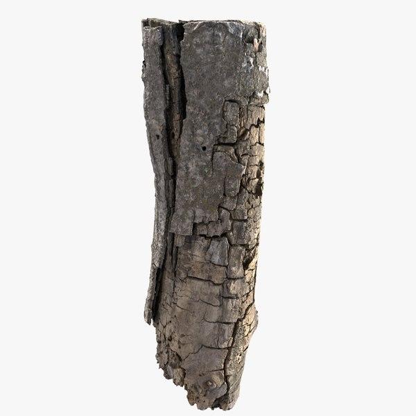 tree bark scanned 3D model