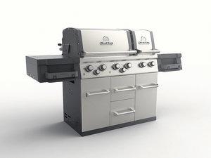 3D gas grill model