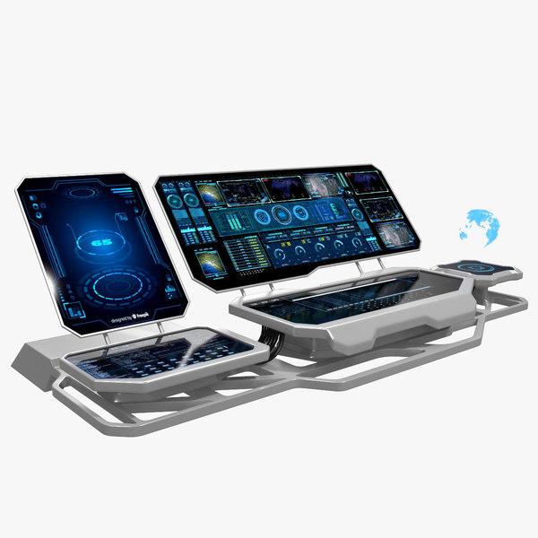 hologram remote control panel 3D model