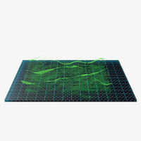 Waves Hologram 3D Model