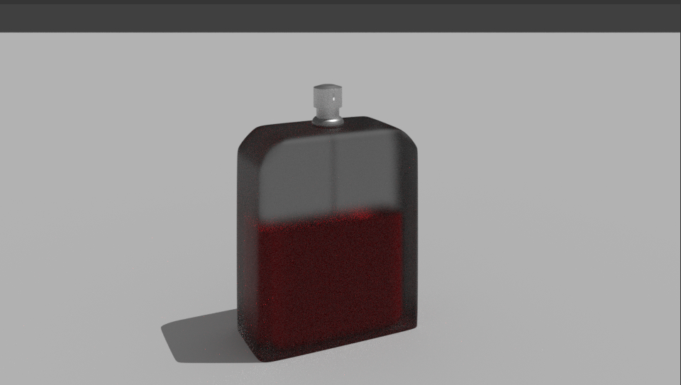 bottle cologne 3D model
