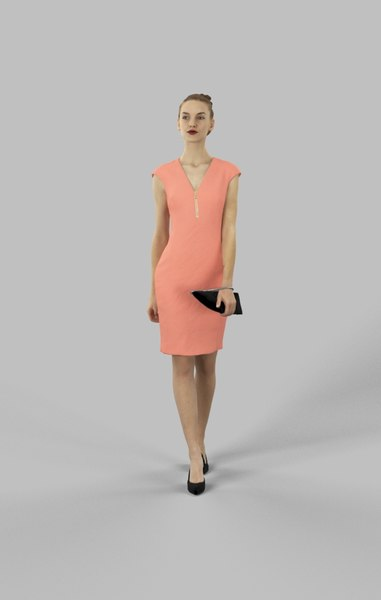 3D midground characters casual model