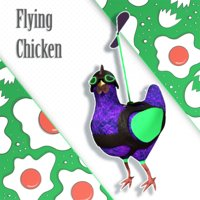 flying chicken character 3D model