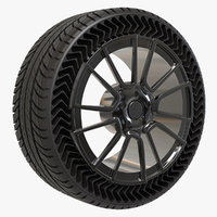 airless tire michelin 3D model