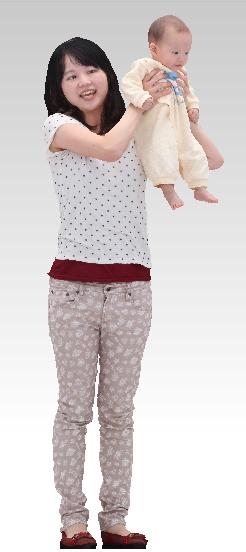 mother child 3D model