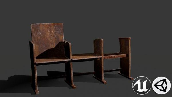 3D wooden pbr