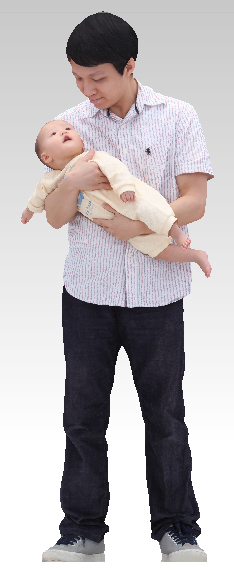 father child 3D model