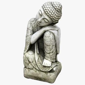 sleeping buddha statue 3D