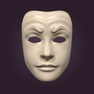 neutral theater mask 3D model