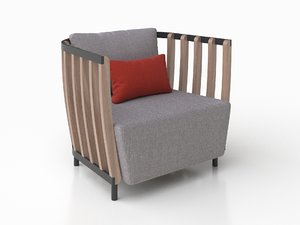 3D armchair lounge model