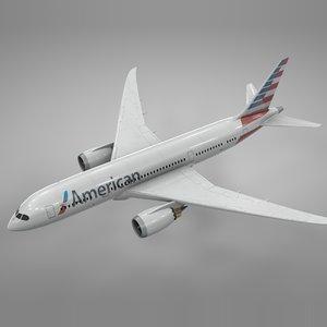 boeing 787 dreamliner american airlines 3D model