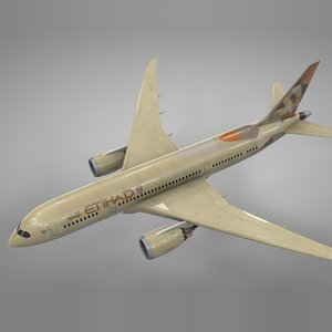 3D boeing 787 dreamliner etihad