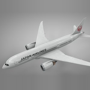 boeing 787 dreamliner japan 3D model