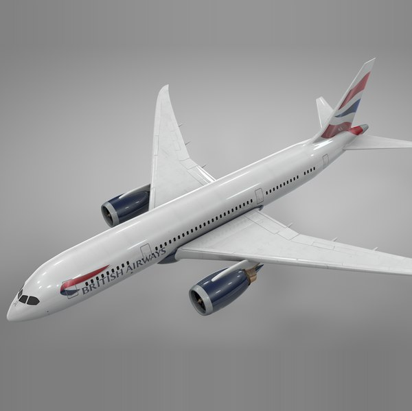boeing 787 dreamliner british airways 3D model