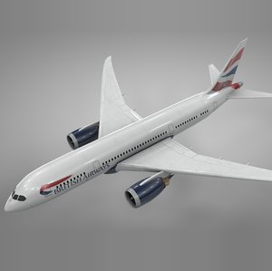 boeing 787 dreamliner british airways 3D model