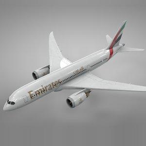boeing 787 dreamliner emirates 3D