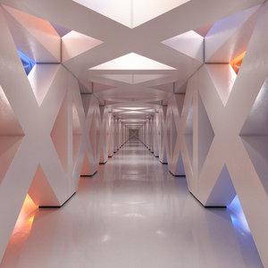3D model corridor realistic