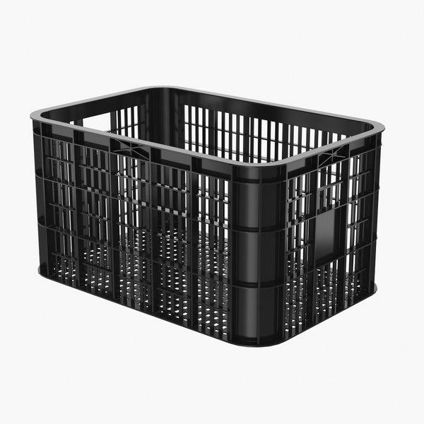 3D realistic plastic crate