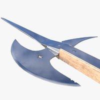 3D historically pole axe model