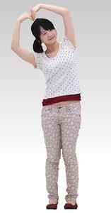 3D woman people human model