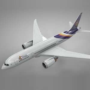 3D model boeing 787 dreamliner thai airways