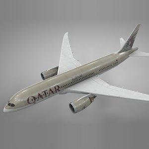 boeing 787 dreamliner qatar model