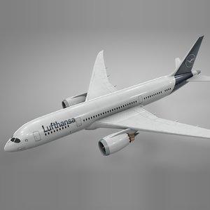 boeing 787 dreamliner lufthansa 3D model