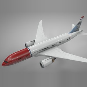 boeing 787 dreamliner norwegian 3D model