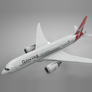 boeing 787 dreamliner qantas 3D model