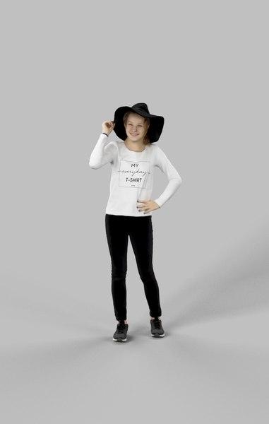3D model hat ema casual