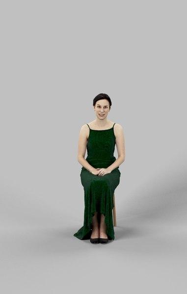 3D model eva fancy dress