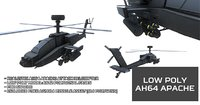 Low Poly Apache Helicopter
