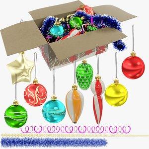 3D model christmas tree decorations v1